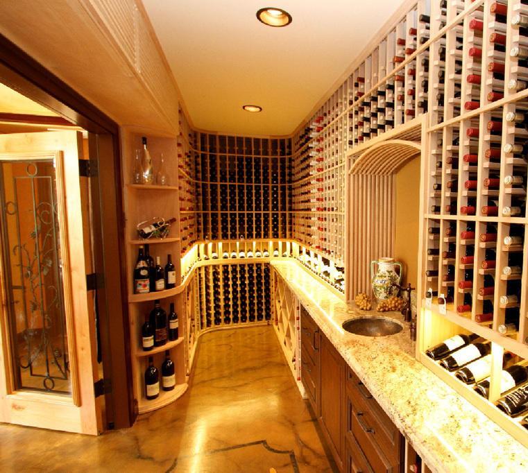 home wine room lighting effect. California Custom Wine Racking Constructed From Mahogany Home Room Lighting Effect